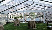 Transparent Wedding Tents with Decorations Sales for Garden Ceremony