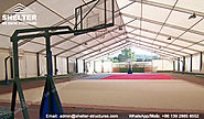 Clear Span Sports Tent to Cover Baksketball Court - Indoor Sports Field