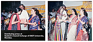 Dr. Mitalee Shome Distributing Prizes at the S.N.D.T University