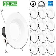 Sunco Lighting 12 PACK - 13Watt 5/6-inch ENERGY STAR Dimmable LED Recessed Lighting Fixture Retrofit Downlight - 2700...