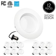 Parmida (12 Pack) 5/6 inch Dimmable LED Downlight, 15W (120W Replacement),EASY INSTALLATION, Retrofit LED Recessed Li...