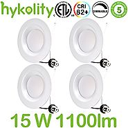Hykolity 6 Inch LED Can Lights, 15W (120W Replacement), Retrofit LED Recessed Lighting, 4000K Neutral White, 1100LM, ...