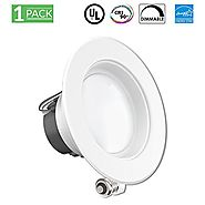 11Watt 4-inch ENERGY STAR UL-listed Dimmable LED Downlight Retrofit Recessed Lighting Fixture - 3000K Warm White LED ...
