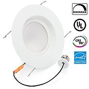 16Watt 5/6-inch ENERGY STAR UL-listed Dimmable LED Downlight Retrofit Recessed Lighting Fixture - 3000K Warm White LE...