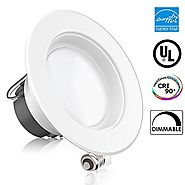 "Sunco Lighting 11Watt 4""- Inch Energy Star UL-Listed Dimmable LED Downlight Retrofit Baffle Recessed Lighting Kit Fix..."