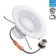 6-inch LED Recessed Retrofit Downlight, 14.8w, 5000k, 1300 lumens, Day White, Round Lens, UL Classified, EnergyStar, ...