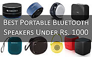 Top 5 Portable Waterproof Bluetooth Speakers Under 1000 Available in India 2018