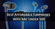 Best Affordable Earphones With Mic Under 500 in August 2018 – Codewife