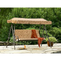 Addison 3 Person Cushion Swing- Jaclyn Smith Today-Outdoor Living-Patio Furniture-Swings
