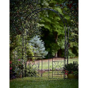 Metal Arbor with Gate- Garden Oasis-Outdoor Living-Outdoor Decor-Arbors & Trellises