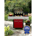 4-Burner Gas Grill - Red- Kenmore-Outdoor Living-Grills & Outdoor Cooking-Gas Grills