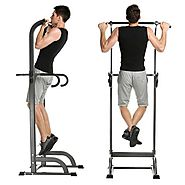 Adjustable Pull Up Bar Strength Fitness Power Tower - Walmart.com