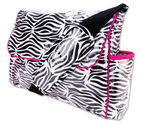 Zebra Print Messenger Bag