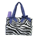 Quilted Zebra Diaper Bag Purple