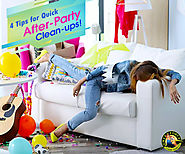 Clean your home quickly after a party with these 4 tips