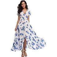 Stylish Floral Maxi Dress with Sleeves for Ever Season - Prolyf Styles