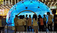 10m Clear Top Dome Shelter as A Projection Dome for Lighting Festival