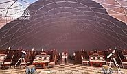 Dia.25m Dining Dome for Glamping Resort Project - Geodesic Dome Igloo for Sale