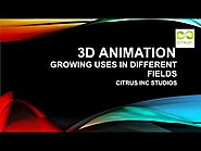 3D Animation Uses in Different Fields