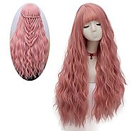 netgo Women's Pink Wig Long