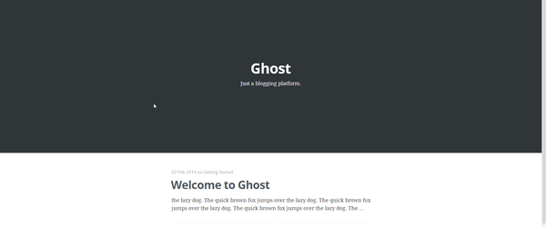 Headline for Ghost Blog Resources