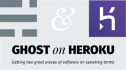 How to host a ghost blog on Heroku, for free