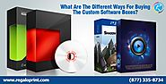 What Are The Different Ways For Buying The Custom Software Boxes?