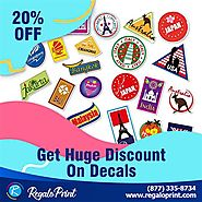 Get 20% Discount On Decals at RegaloPrint