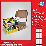 Free Delivery of Packaging Boxes Right at Your Doorstep – RegaloPrint