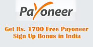 Get Rs. 1700 Free Payoneer Sign Up Bonus in India