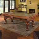 Brunswick Brae Loch 4' x 8' Slate Pool Table: Sports & Outdoors