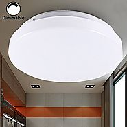 B-right 13-inch 15W Dimmable LED Ceiling Light, 110V, 1200lm, 5000K Daylight White, 100W Incandescent Equivalent, Flu...