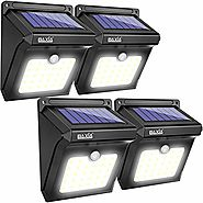BAXIA TECHNOLOGY Solar Lights Outdoor,Wireless 28 LED Solar Motion Sensor Lights,Waterproof Security Lights for Outdo...