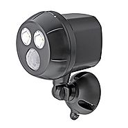 Mr Beams MB390 300-Lumen Weatherproof Wireless Battery Powered LED Ultra Bright Spotlight with Motion Sensor, Brown