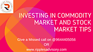 MCX Tips By Ripples Advisory