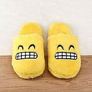 Unisex Emoji Cute Cartoon Slippers Warm Cozy Soft Stuffed Ho – Dash2Style