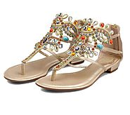 Women's Elegant Rhinestone Summer Casual Sandals – Dash2Style
