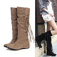 Women Thigh High Tassels Motorcycle Boots - Women Thigh High Tassel – Dash2Style