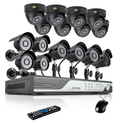 Zmodo 16 Channel 960H DVR Security Camera System w/ 8 Outdoor Bullet + 8 Indoor Dome 600TVL Hi-Resolution Video Surve...