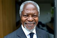 Kofi Annan, the only black African to become UN secretary-general