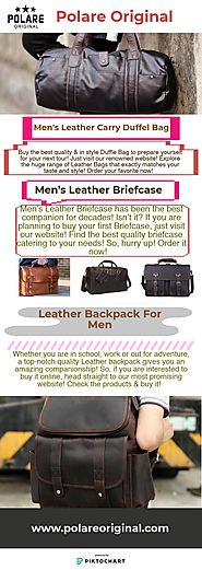 Extensive Range of Leather Bags for Men!