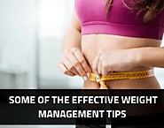 Some of the effective Weight management tips