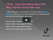 How To Make A Music App Like Musical.ly/TIKTOK on Vimeo