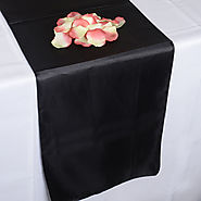 Buy High Quality Black Table Runner For Event Decoration