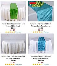 Wedding Table Runners for Sale at Wholesale Price