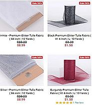 Shop Glitter Tulle Fabrics Online in Various Colors and Size