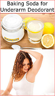 Baking Soda for Underarm Deodorant | Baking Soda Uses and DIY Home Remedies.