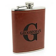 Premium Groomsman 8oz Hip Flask - James Butler
