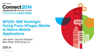 IBM Worklight - Going from XPages mobile to native mobile