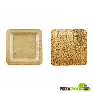 Nature made Plates using Bamboo Leaf - Highly Eco Friendly and Biodegradable